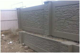 DDS Retaining Wall 900mm high with 2.4m Sound Wall