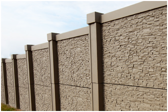 DDS Concrete Sound Fence and Retaining Wall Combo Retaining 2.0m of fill